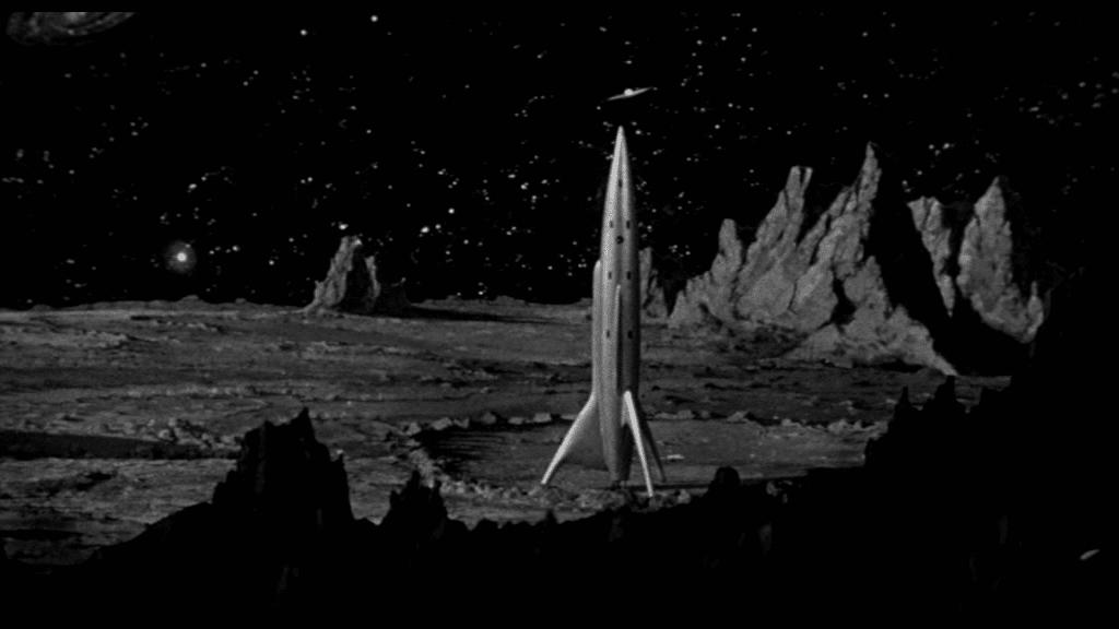 Das andere Raumschiff steht auf dem Mars
